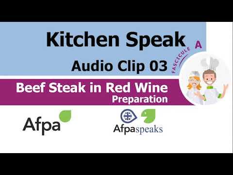 Clip 03 Preparation Beef Steak in Red Wine