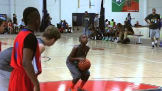 hercy miller top 11 yr in the country shows off his basketball skills