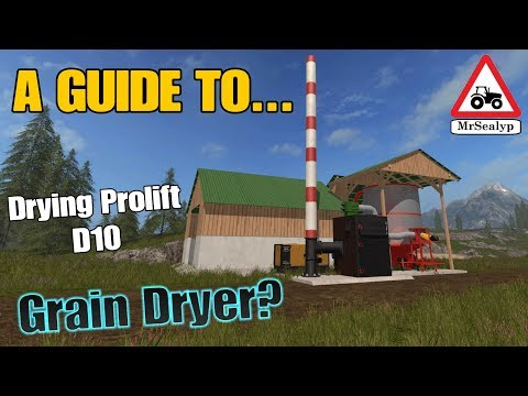 A Guide to... Drying Prolift D10, Grain Dryer? New Mod! Farming Simulator 17 PS4. Review. thumbnail