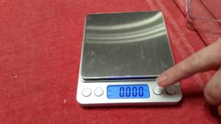 Small Size Digital Scale, up to 6.6 pounds (grams, ounces, grains, carats)
