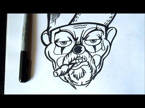 Como Desenhar Um Palhaco Valvedesignz Art By World Youtube
