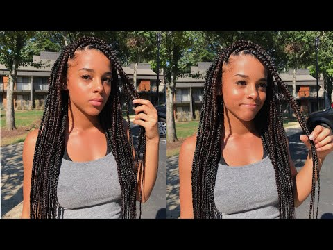 Watch Me Get Box Braids For The First Time   Azlia Williams