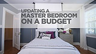 Budget Decorating a Sophisticated Master Bedroom