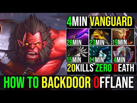 How to BackDoor With 4Min Vanguard [Axe] Incredible Berserker Call 20Kills SneyKing DotA 2 FullGame
