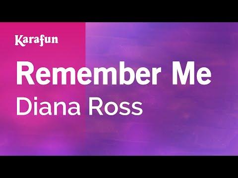 Karaoke Remember Me - Diana Ross *