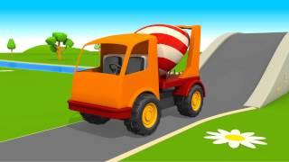 Unsere Baufahrzeuge! Bagger, Laster und mehr! Schöne Animation für Kinder