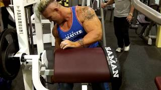 Andy Haman DYMATIZE Machine Curls and Overhead Extensions Superset!