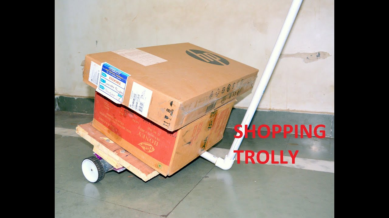 af638f3095c9 How to make electric luggage Trolley - at home - easy way