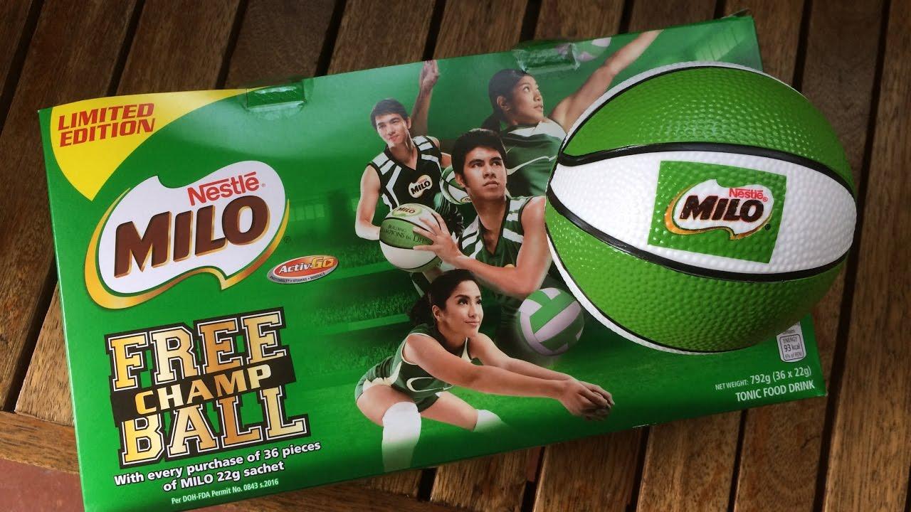 Milo Promo Give Away Basketball Youtube Sachet