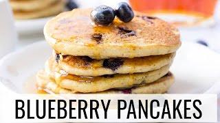 Vegan Blueberry Quinoa Pancakes