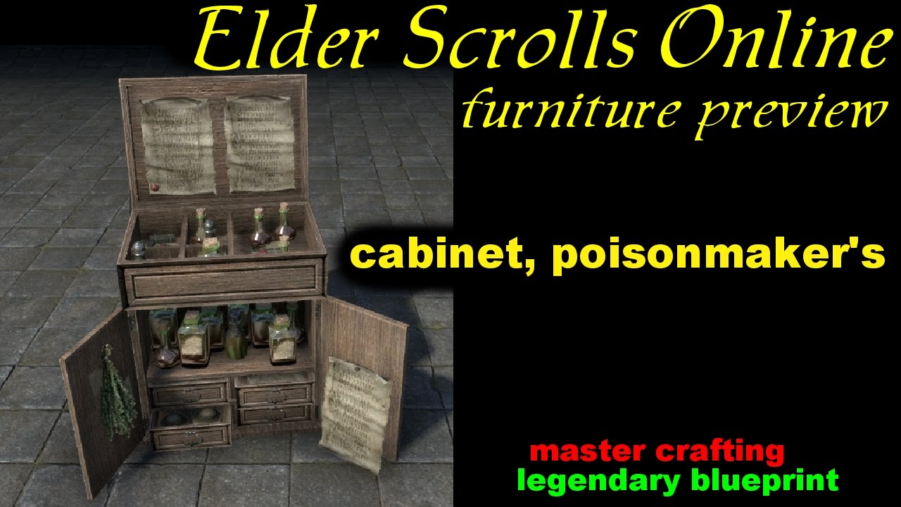 ESO Cabinet, Poisonmaker's [Legendary Blueprint] Furniture Preview ...