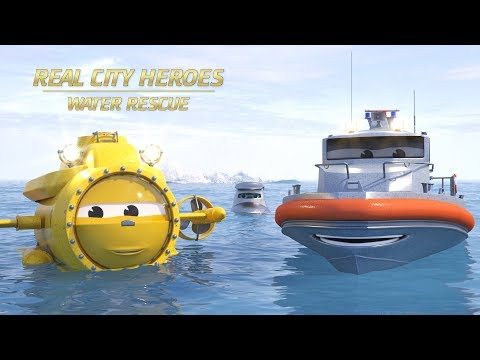 Flip the Rescue Boat & Ava the Submarine - Real City Heroes