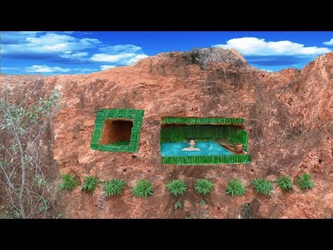 Build The Most Secret Underground Swimming Pool And Underground House On The Cliff