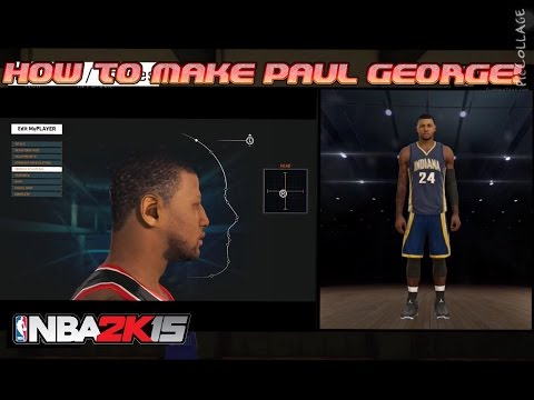 How to Make Paul George in NBA 2k15 | My Player Face Sculpting