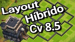LAYOUT HÍBRIDO PARA CV8.5!/TH8.5 LAYOUT! | Clash of Clans
