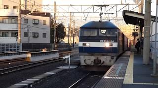 JR貨物 EF210-144貨物列車 八丁畷駅