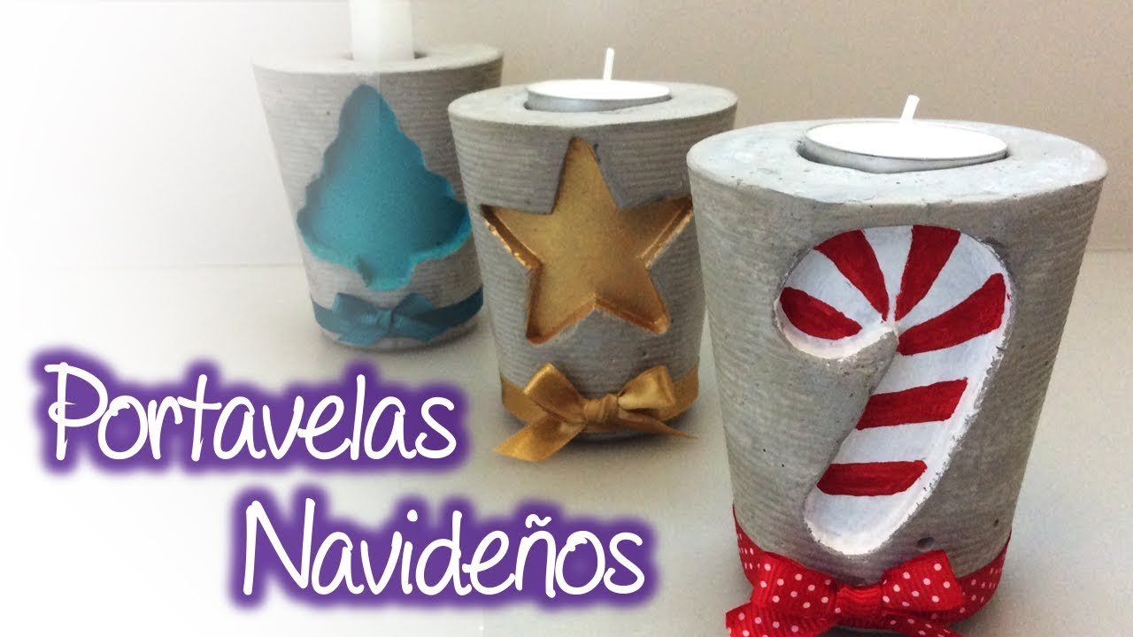 Portavelas Navideños Christmas Candle Holder Youtube
