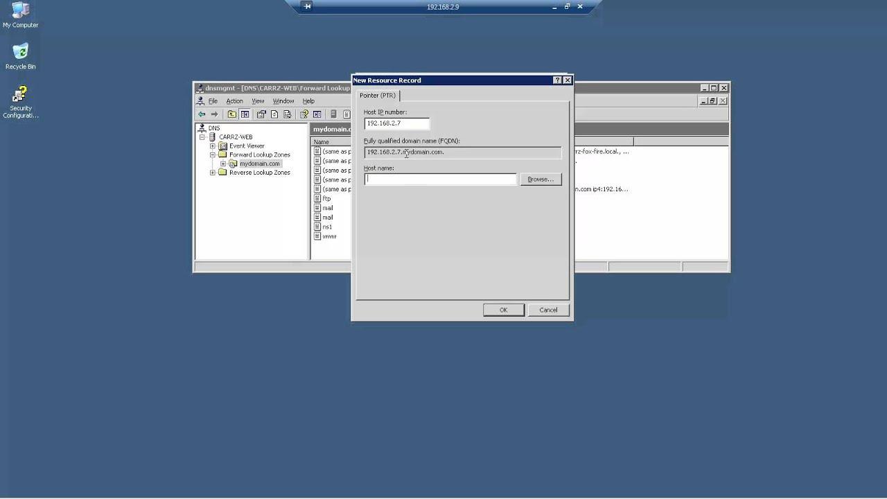 Windows 2003 Server - DNS SPF & PTR Settings, sending and Receiving Mail  for AOL Pt2