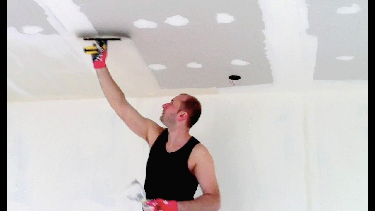 Enduire un plafond suspendu youtube for Plafond suspente