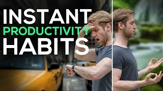 3 PRODUCTIVITY Tips | Habits for INSTANT improvement (2018)