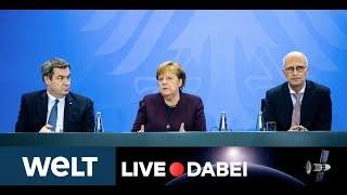 Coronavirus-lage in deutschland: nach der corona-schaltkonferenz mit den ministerpräsidenten länder tritt kanzlerin merkel vor die presse, um ersten ...