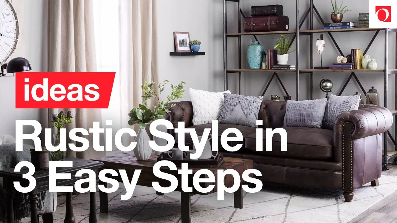 3 Easy Steps to Cozy Rustic Style - Overstock.com - YouTube