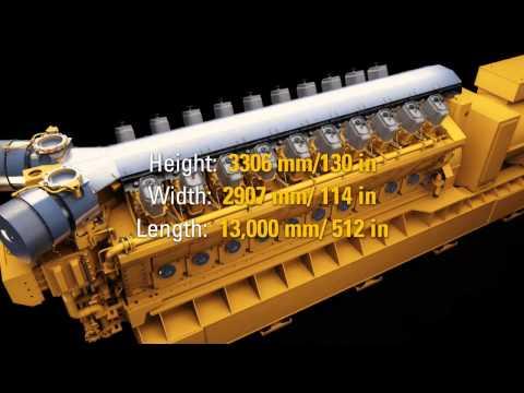 Caterpillar Electric Power 10MW GCM34 Natural Gas Engine