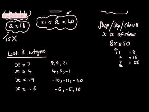 GCSE Maths - Inequalities 1 (Notation, number lines and listing integers) Foundation Higher