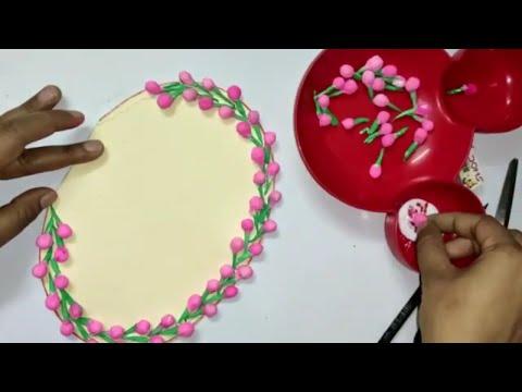 DIY, home made greeting card using paper napkin