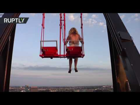 Over the Edge: Europe's highest swing opens up in Amsterdam