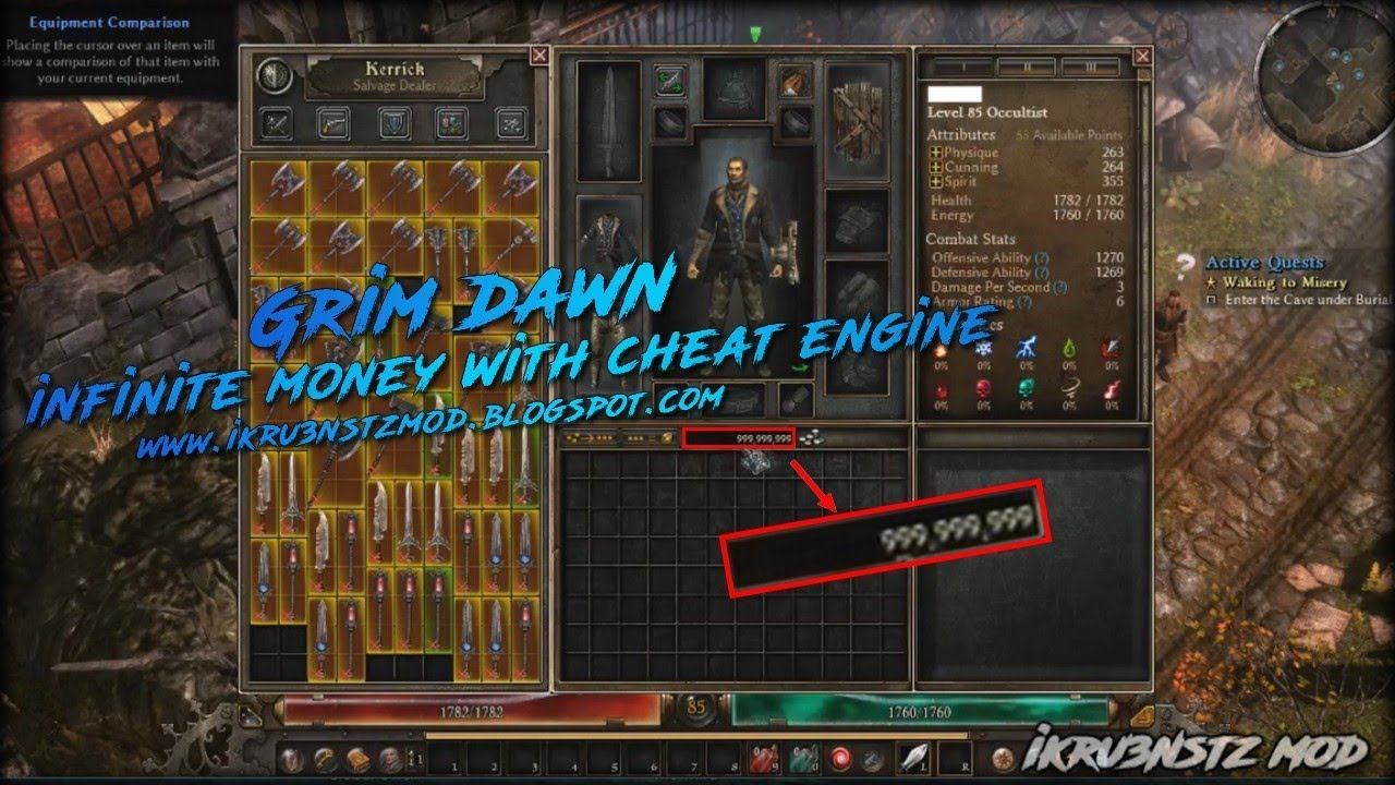 Grim Dawn - Infinite Money with Cheat Engine