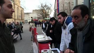 Kurdischer Bruder stellt Fragen an Ibrahim Abou-Nagie