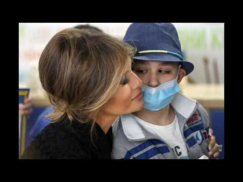 Melaniya Tramp involved in charity work in a foreign tour