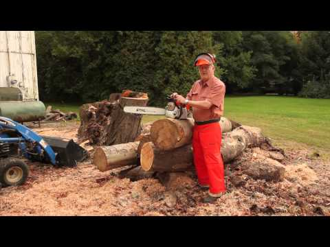 Chain Saw Safety when Cutting Bowl Blanks