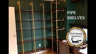 Woodworking : DIY Corner Pipe Shelves // How-To Part 1