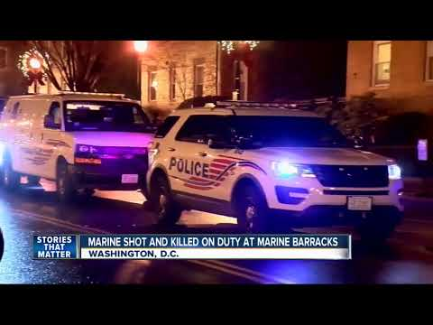 Marine shot and killed in accident
