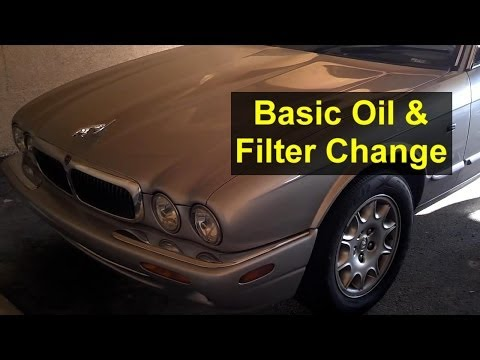 Basic oil change and filter change, Jaguar XJ8, 4.0, X308 - Auto Repair Series