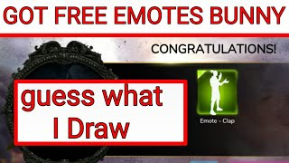 Got Free emote in bunny Draw | How to get free emote in free fire|Free fire bunny draw emotes| Hindi