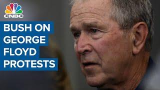 -pres-george-bush-statement-protests-death-george-floyd