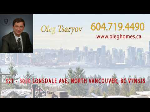 Apartments at 321 3080 Lonsdale in North Vancouver listed by Oleg Tsaryov