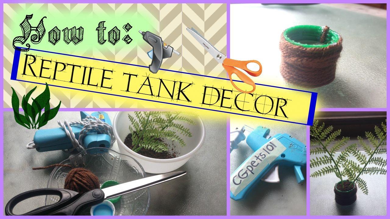 Diy Reptile Tank Decor Youtube