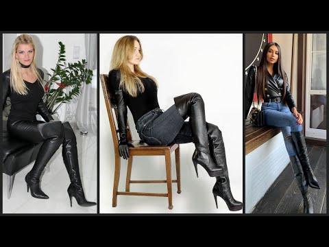 High class women's daily wear desinger dresses with high heels long shoes 😂👟❣️❣️   Idea's
