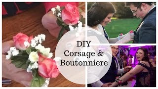 How To Make a Corṡage and Boutonnière