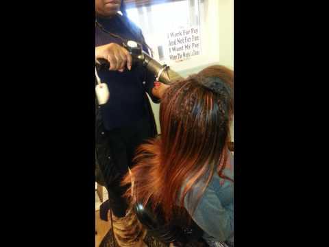 Pole hair weaves at Reyarpsdrol Salon Ohio(2)