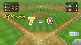 Wii Sports Online : 6346 wins ;playing baseball on wiiu