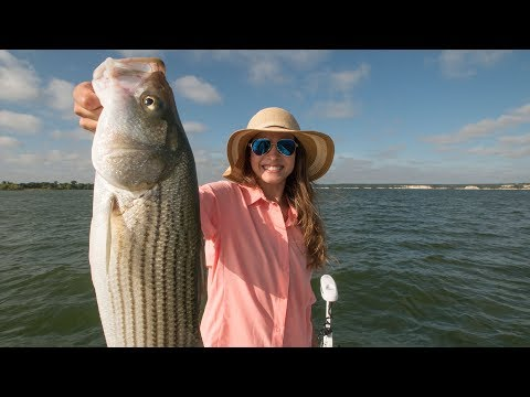 Wife Goes Striped Bass Fishing | Catch and Cook
