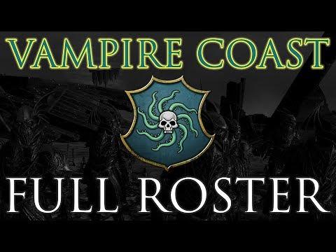 VAMPIRE COAST FULL ROSTER! Stats & Close-Ups - Total War: Warhammer 2