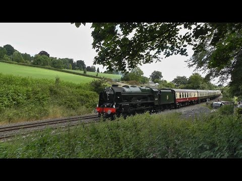 46100 Royal Scot stalls up Whiteball with The Torbay Express 03/07/2016
