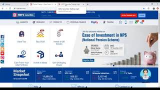 Webinar on Ease of Investment in NPS (National Pension Scheme)