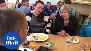 Belfast teenagers question PM Theresa May over Brexit - Daily Mail